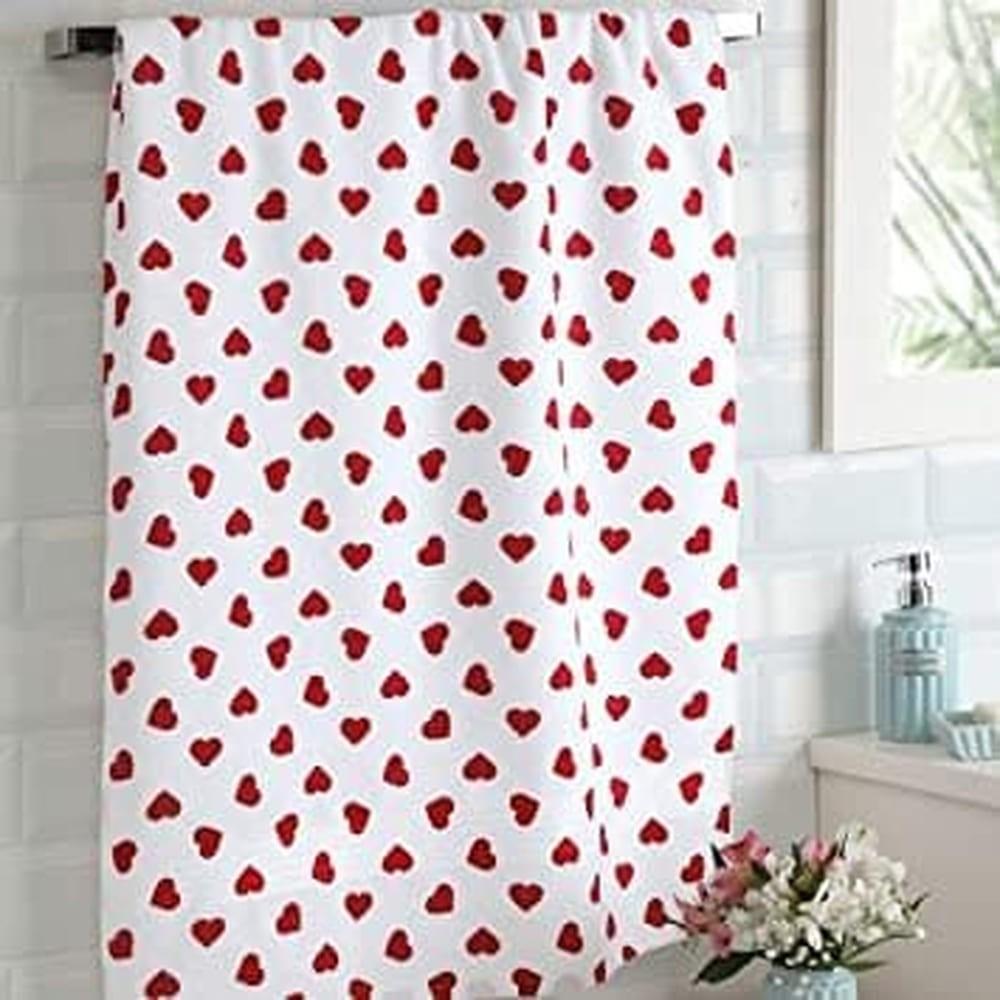 Toalha de Banho 100% algodão Dohler Prisma - Coração Vermelho