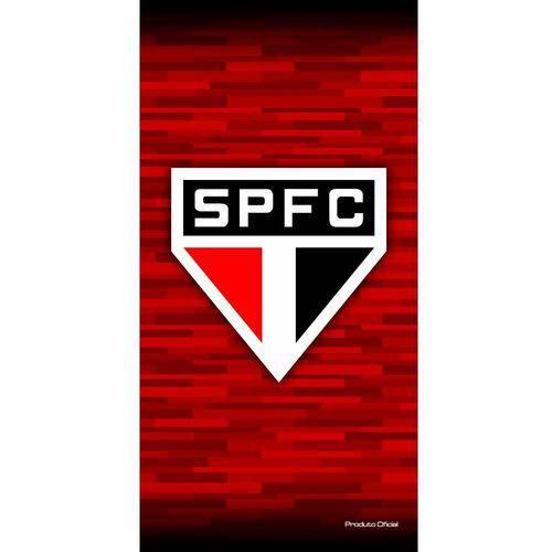 Toalha de banho Buettner estampada time São Paulo