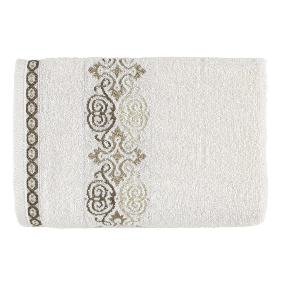 Toalha de banho Elara Ivory/Marrom - Kasten