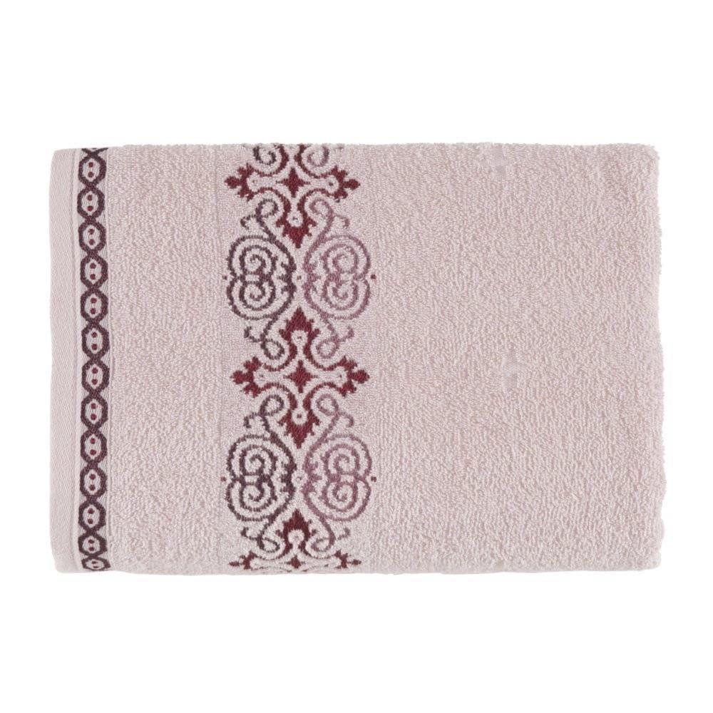 Toalha de banho Elara Rose Bordô - Kasten