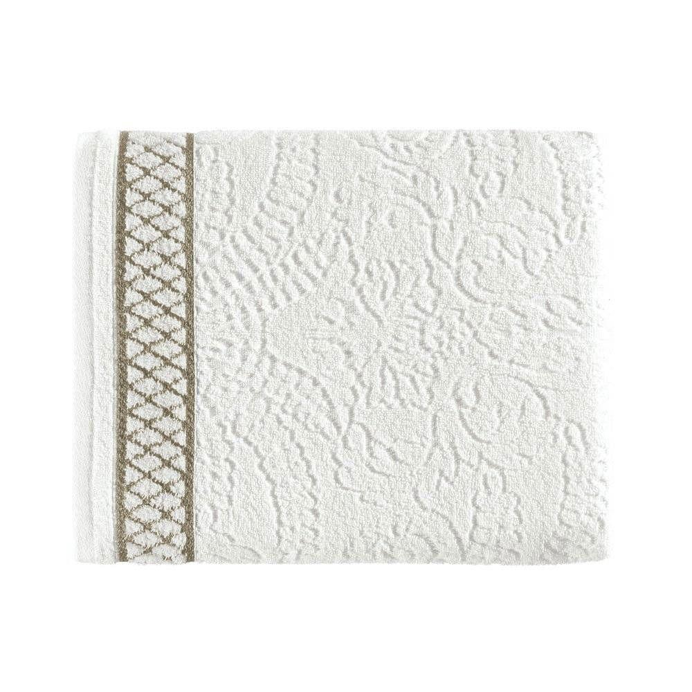 Toalha de Banho Eudora Branco/Marrom - Kasten