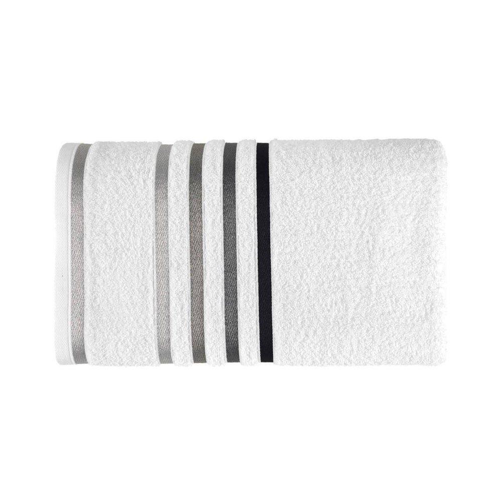 Toalha de banho Lumina - Branco/ Preta - Karsten