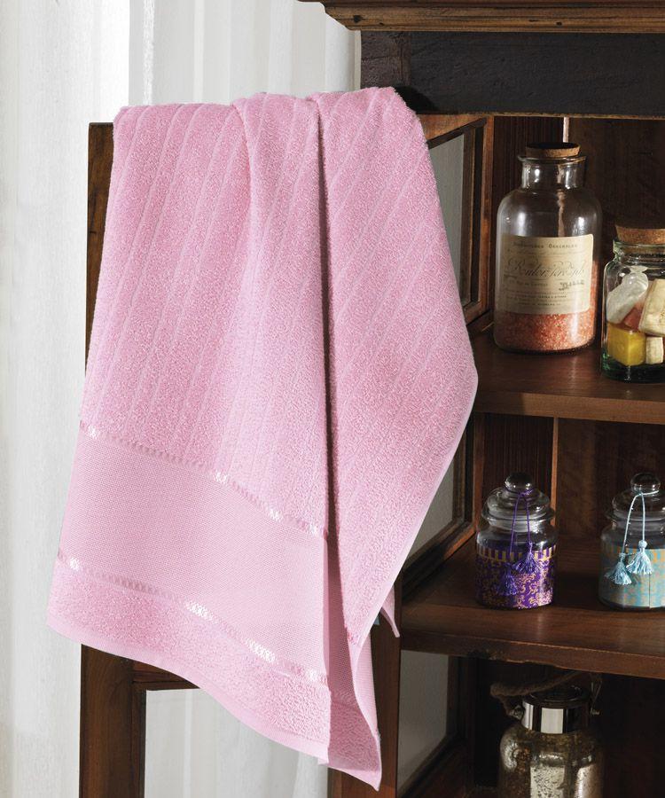 Toalha de banho para bordar Felpudo Rosa -  Dohler