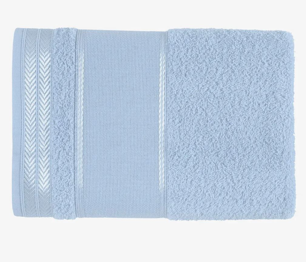Toalha de Banho Para Bordar Sabrine Azul Claro - Karsten