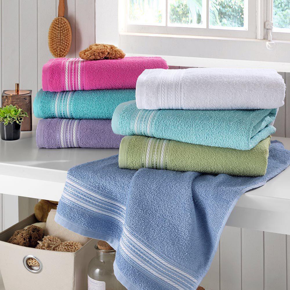 Toalha de banho - várias cores- Santista enxuta