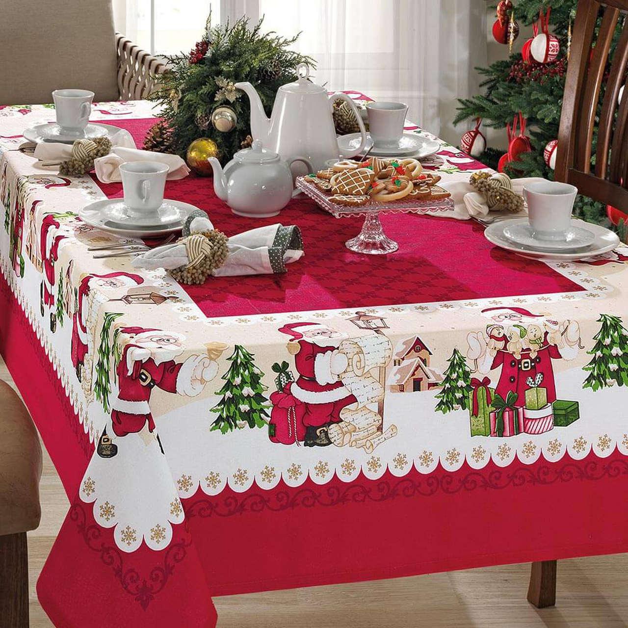 Toalha de mesa natal 4 lugares - Natal 75 Genebra Dohler