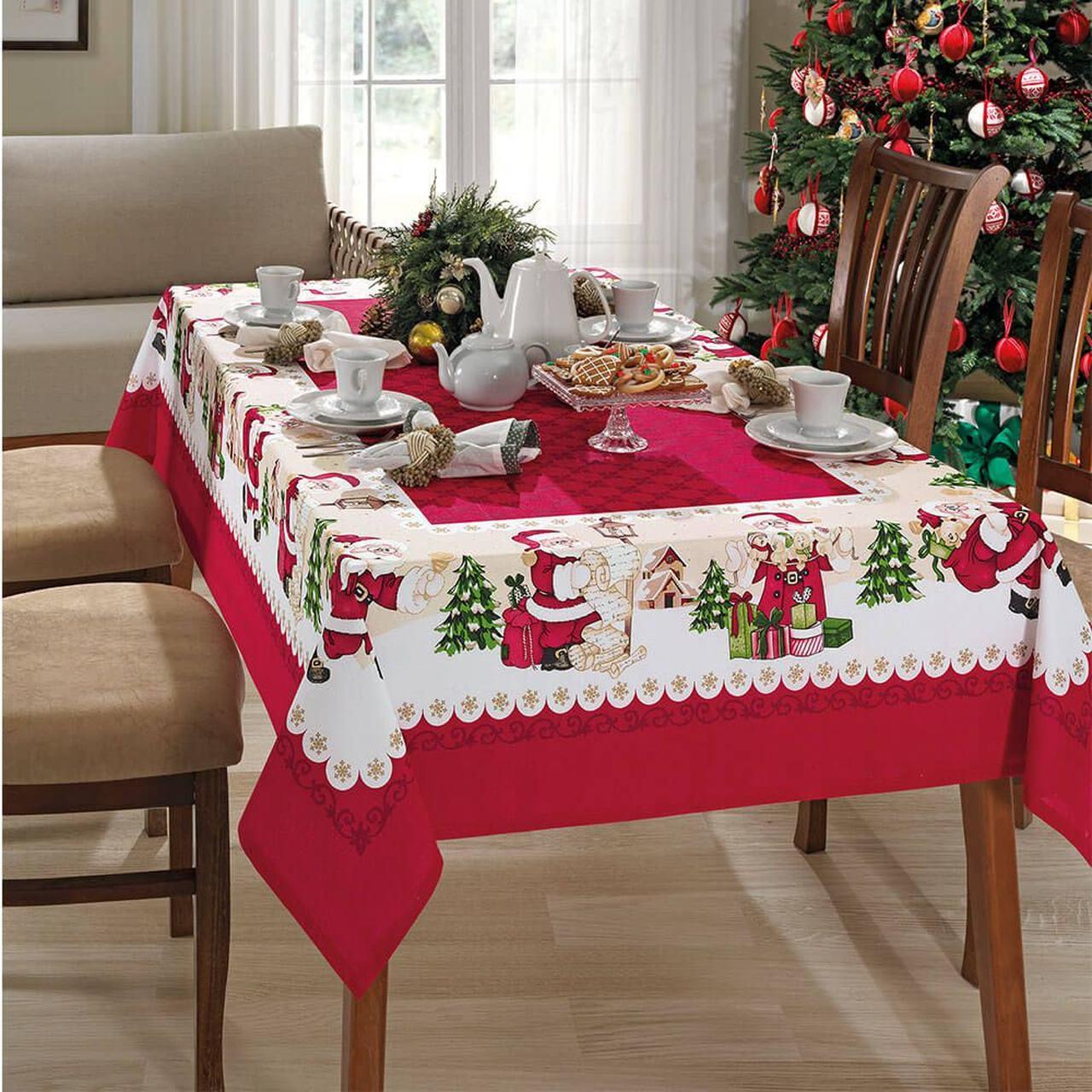 Toalha de mesa natal 6 lugares - Natal 75 Genebra Dohler