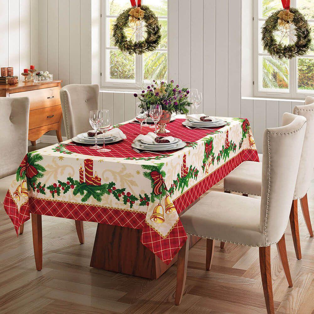 Toalha de mesa natal 8 Lugares - Natal 76 Genebra Dohler