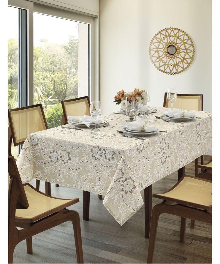 Toalha de mesa quadrada 4 lugares 1,40 x 1,40m Dohler Clean Eloah