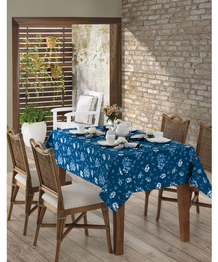 Toalha de mesa quadrada 4 lugares 1,40 x 1,40m Dohler Clean Eunice
