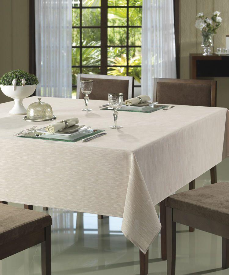 Toalha de mesa quadrada 4 lugares 1,60 x 1,60m Passion Dohler Clean 9731