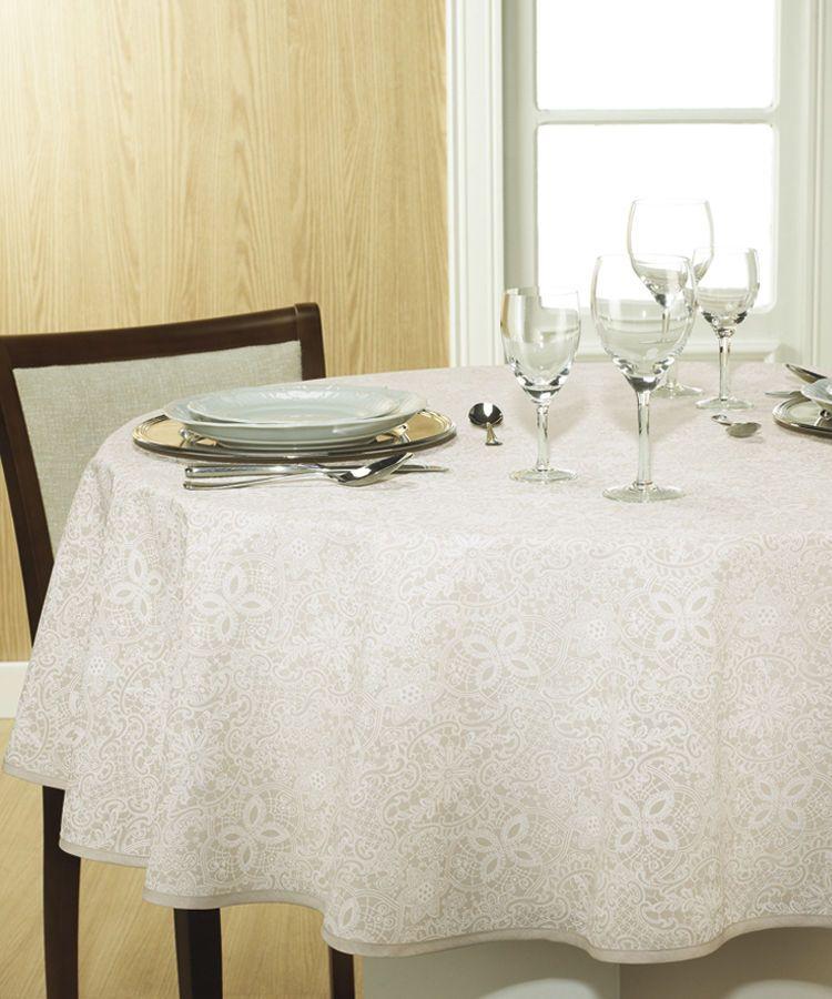 Toalha de mesa redonda 4 lugares 1,60 Dohler Clean Eliete