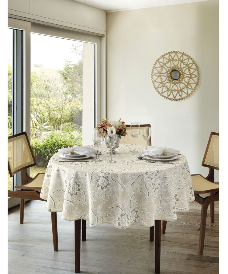 Toalha de mesa redonda 4 lugares 1,60 Dohler Clean Eloah