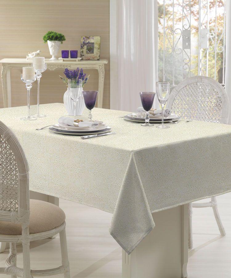 Toalha de mesa retangular 6 lugares 1,40 x 2,10m Dohler Clean Eliete