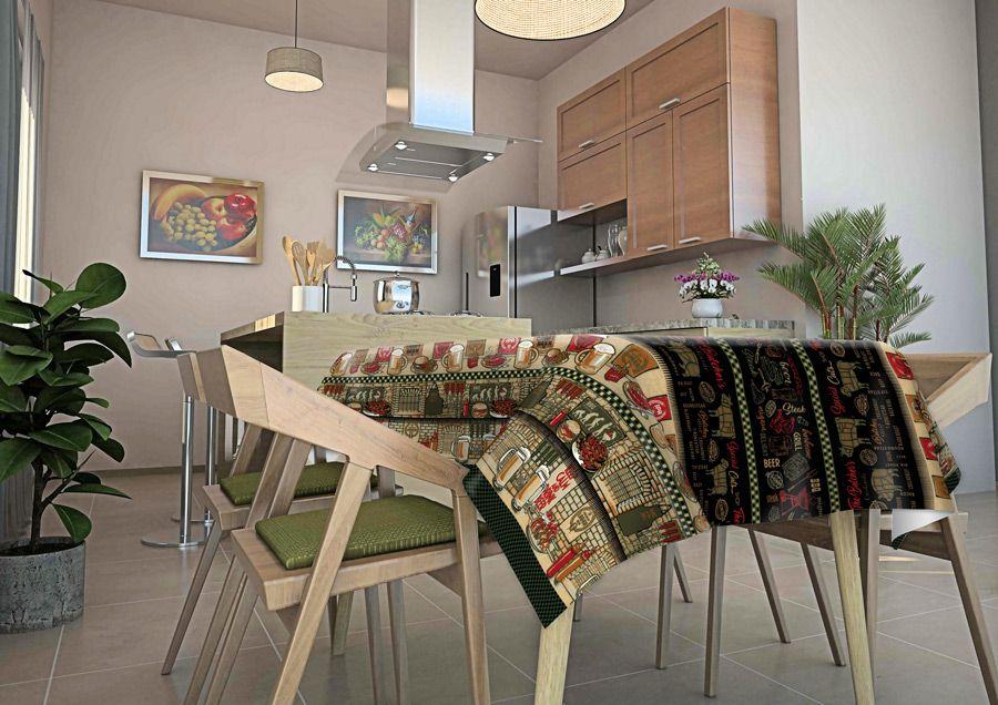 Toalha de mesa térmica Churrasco