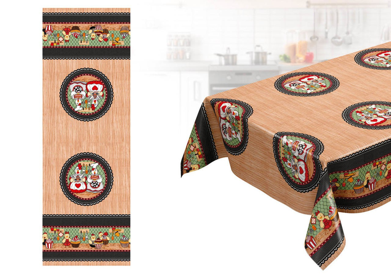 Toalha de mesa Térmica Galinha Confeiteira