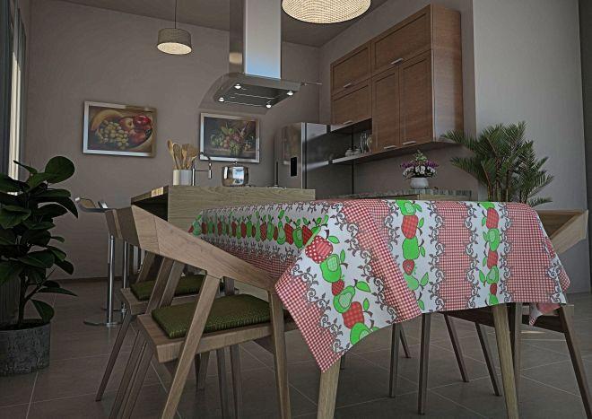 Toalha de mesa Térmica Patchwork Maçã