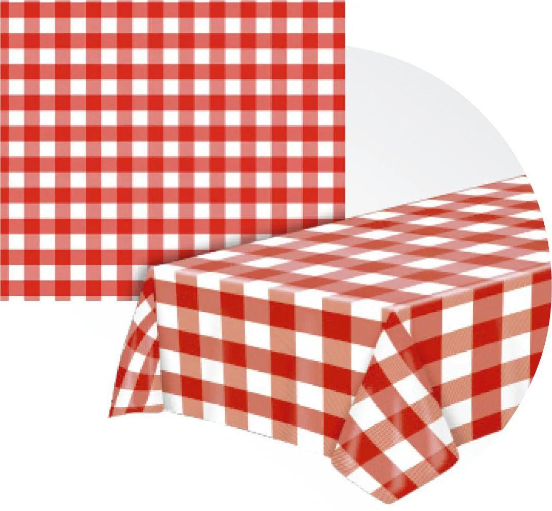 Toalha de mesa Térmica Xadrez Vermelho