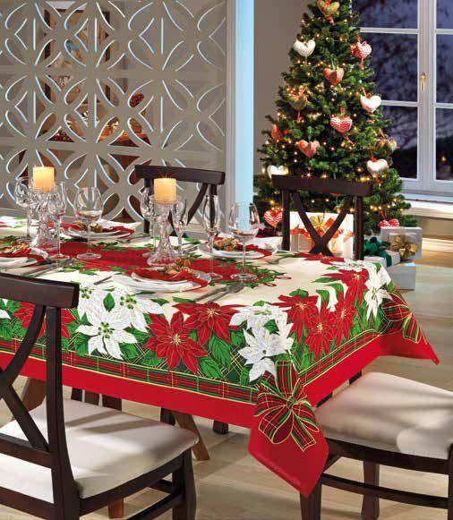 Toalha de mesa natal 8 Lugares - Natal 74 Genebra Dohler