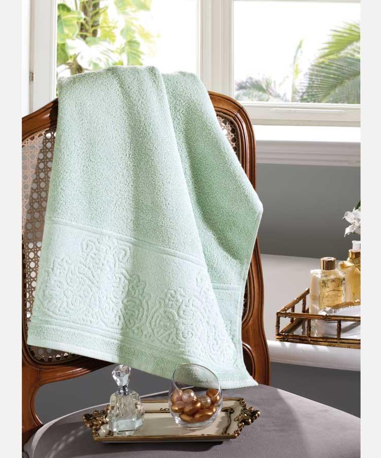 Toalha de Rosto 100% algodão Jacquard Confort Verde - Dohler