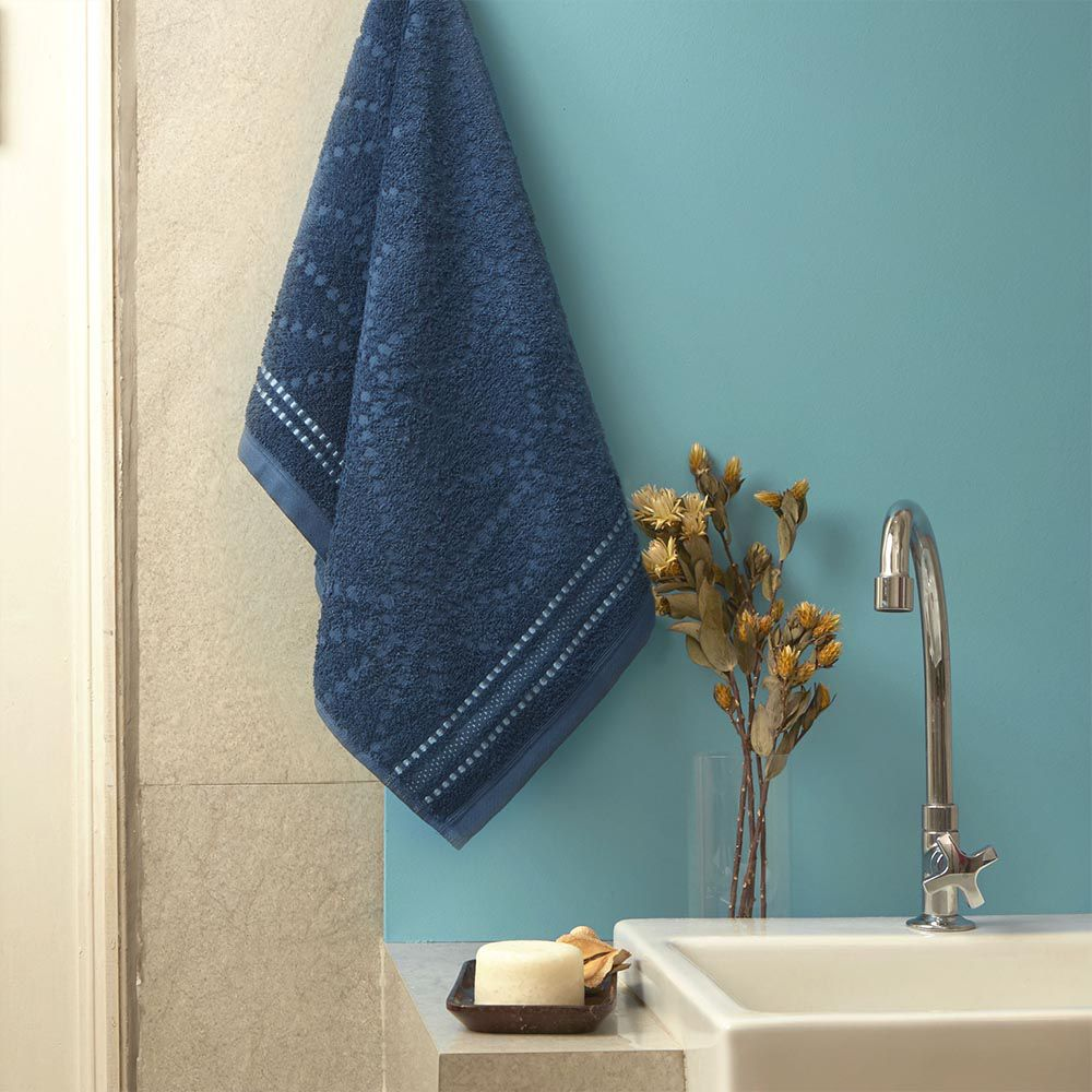 Toalha de Rosto Total mix indigo - azul oceano - Artex