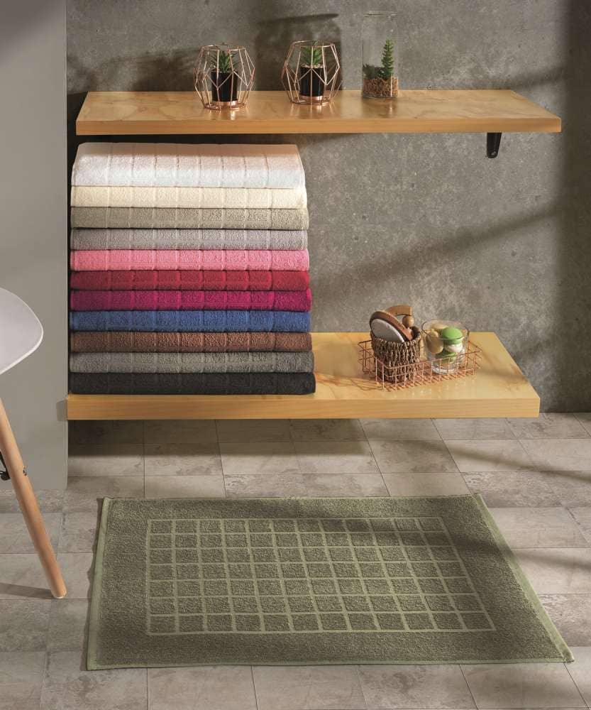Toalha para piso Felpudo Verde Liso Royal II - Dohler