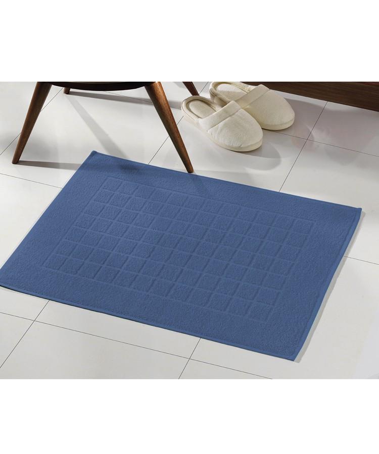 Toalha para Piso Felpudo Azul Liso Royal II - Dohler