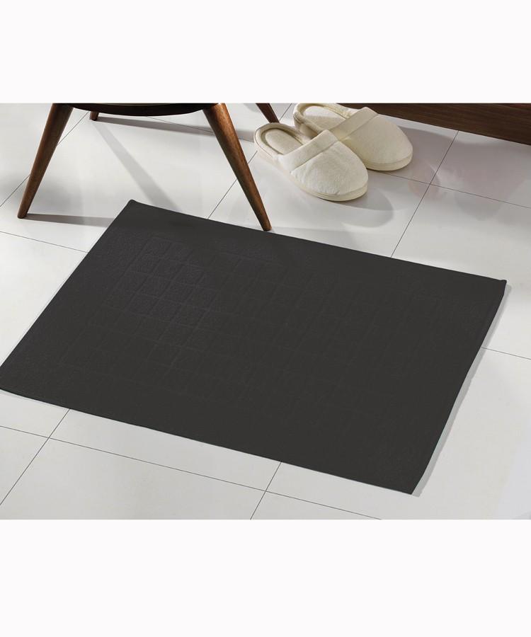 Toalha para piso Felpudo Preto Liso Royal II - Dohler
