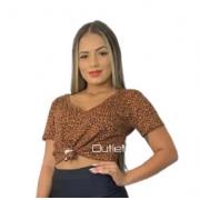 Blusa Camiseta Básica Feminina Malha Viscolycra Promoção Animal Print