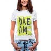 Blusa Feminina T-Shirt Estampada Manga Curta Estampa Dream