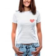 Blusa Outlet Dri T-Shirt Estampada Love And Heart Branca