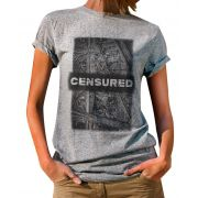 Blusa OutletDri T-Shirt Estampada Censured Cinza