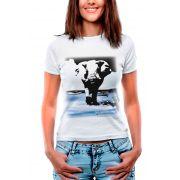 Blusa OutletDri T-Shirt Estampada Elefante Em Paisagem Branca