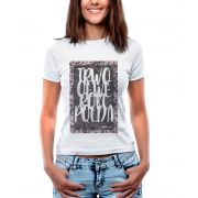Blusa OutletDri T-Shirt Estampada Handwriting Board Branco