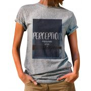 Blusa OutletDri T-Shirt Estampada Perception Cinza