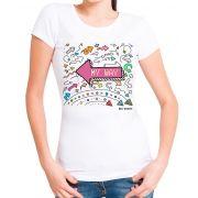 Blusa T-shirt Estampa On My Way