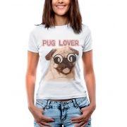 Blusa T-shirt Estampa Pug Lover