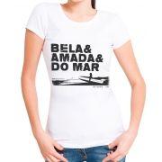 Blusa T-shirt Estampa Surf Feminina