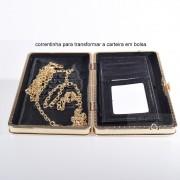 Carteira Mini Bolsa Cordão Dourado