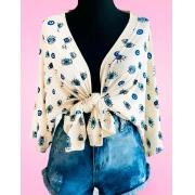 Kimono Olho Grego Várias Cores Saída Praia Moda Blogueira
