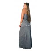 Vestido Envelope Tipo Hobby Fenda Na Perna Transpassado