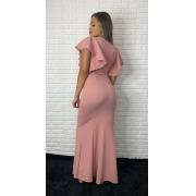 Vestido Longo Sereia Decote V Madrinha Formatura