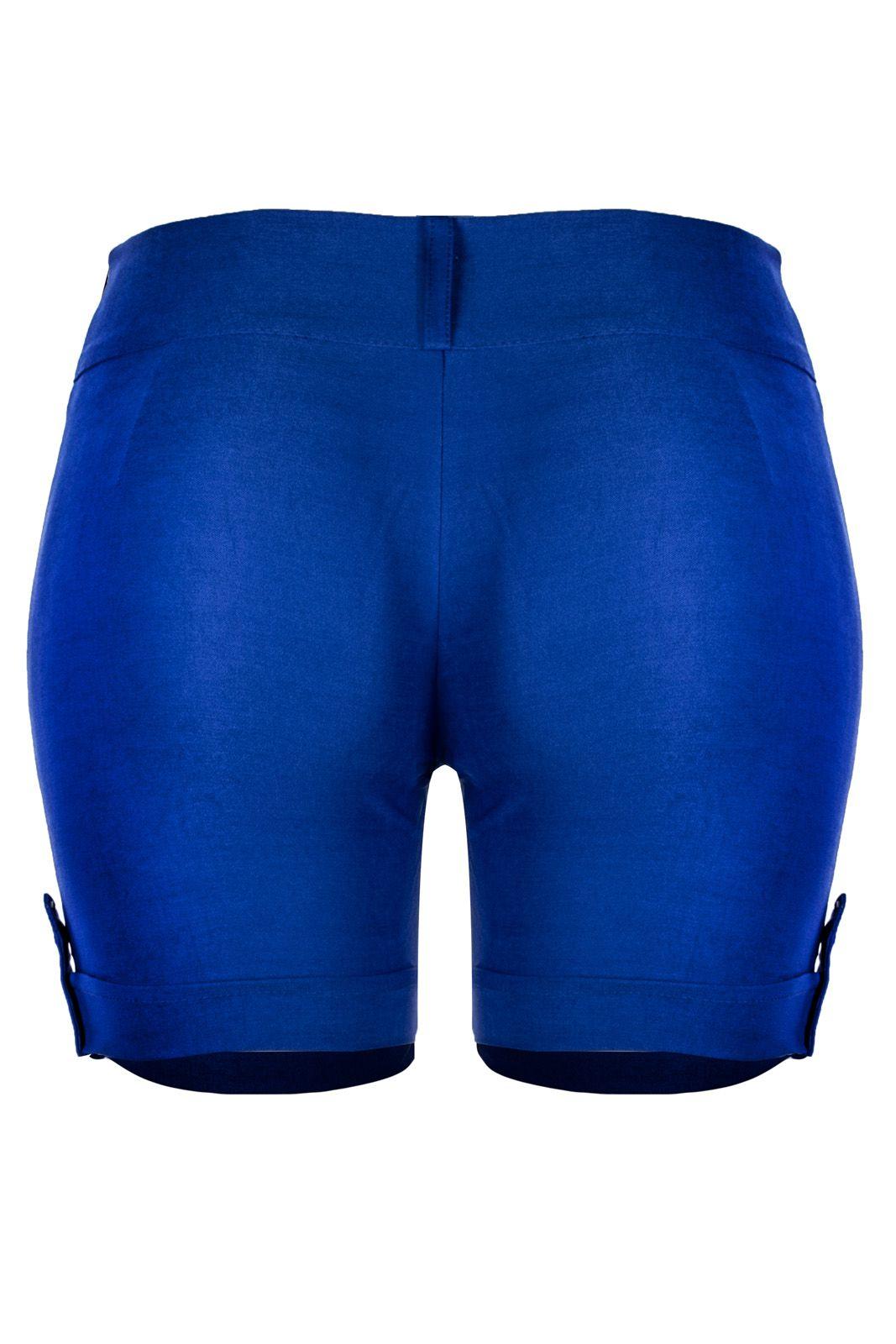 Bermuda Outlet Dri Casual 2 Botões Frontais Spike Bolso Azul