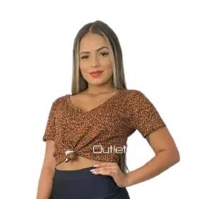Blusa Camiseta Básica Feminina Malha Viscolycra Promoção