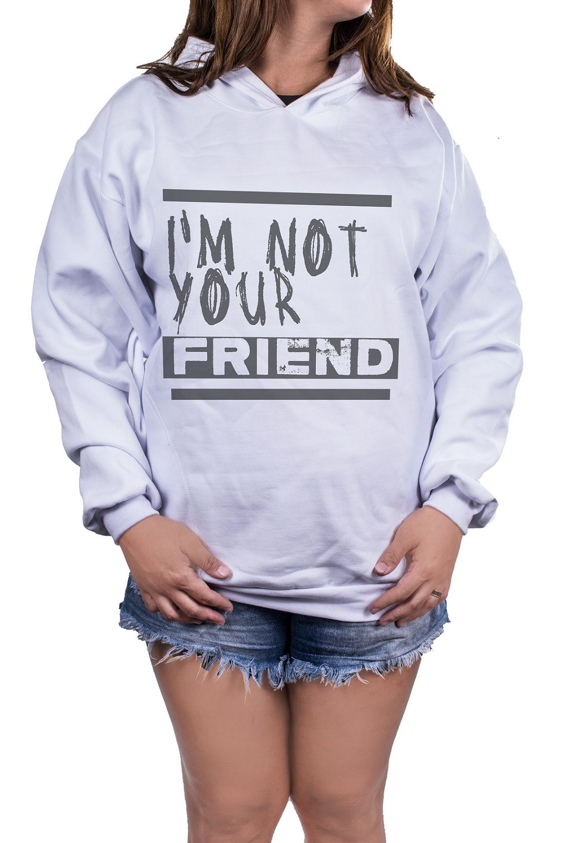 Blusa Feminina Moletom Estampada Estampa I'm Not Your Friend