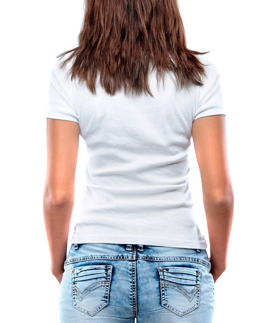 Blusa Feminina T-Shirt Manga Curta Estampa Mosaico Branca.