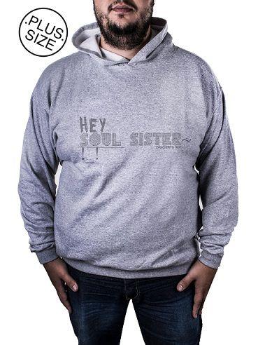 Blusa Moletom Plus Size Estampa Estampado Hey Soul Sister!