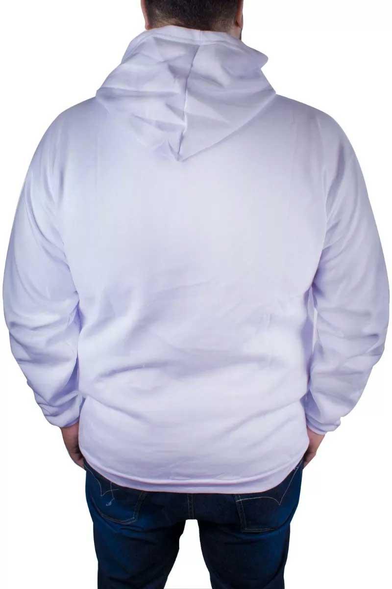 Blusa Moletom Plus Size Estampa Estampado Mosaico Flower Branca