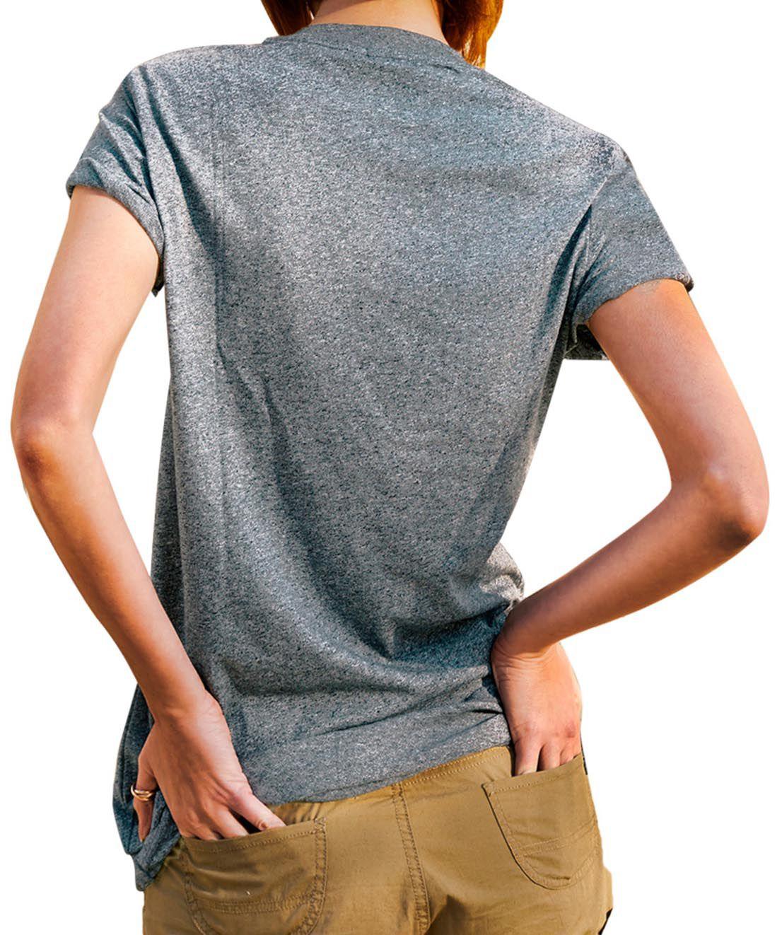 Blusa Outlet Dri T-Shirt Estampada Código De Barra De Paisagem Cinza