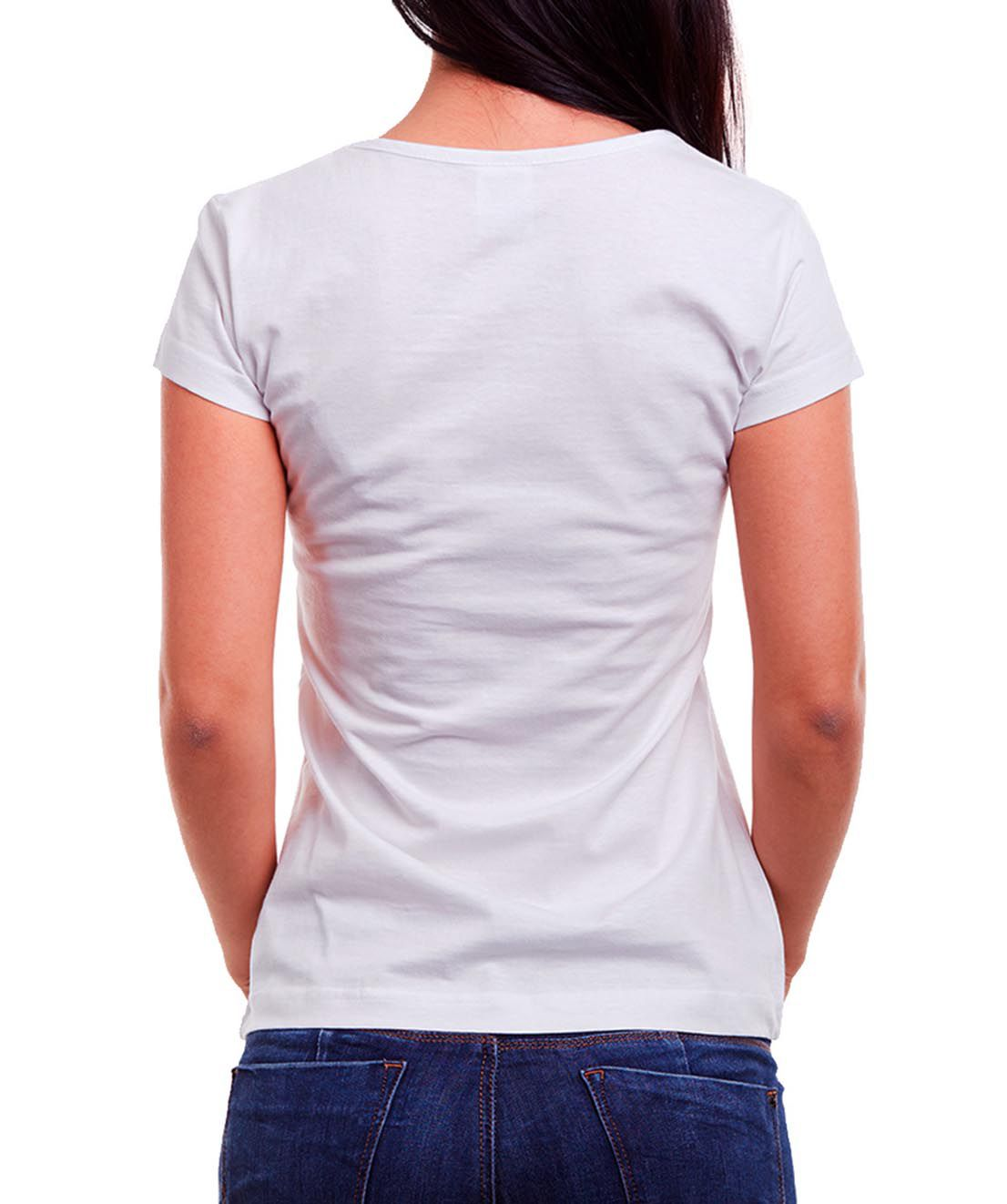 Blusa OutletDri T-Shirt Estampada Girl Power Is Not A Trend Branca